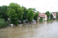 Hochwasser in Halle-Kröllwitz am 3. Juni