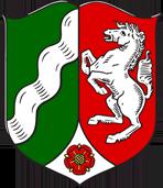 Flagge von Nordrhein Westfalen