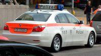 Schweizer Polizeiauto in Zürich
