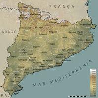 Karte von Katalonien