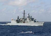 die Fregatte Lübeck im südwestlichen Atlantik