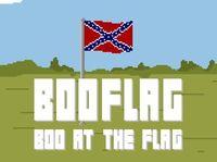 """""""Booflag"""": Konföderierten-Fahne soll brennen. Bild: molleindustira.com"""