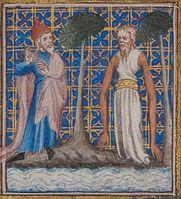 Bible historiale, Der Prophet Daniel empfängt eine Offenbarung, Bild: Martina Sitt, Universität Kassel.