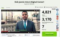 Bewerbung: Würden Sie ihn einstellen?. Bild: Screenshot/kickjannic.com