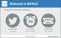 Bitwall: Konzept lässt User mit Tweets für Artikel