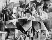 Albert Gleizes, 1912, Landschaft bei Paris