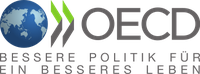 Logo der Organisation für wirtschaftliche Zusammenarbeit und Entwicklung (englisch Organisation for Economic Co-operation and Development, OECD)