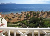 Blick auf das Rote Meer von Scharm El-Scheich aus gesehen