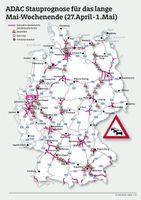 Stausituation auf Deutschlands Autobahnen