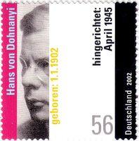 Hans von Dohnanyi (deutsche Briefmarke, 2002)