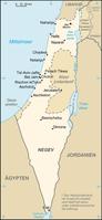 Karte von Israel Bild: de.wikipedia.org