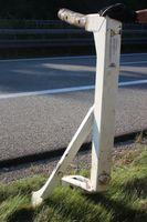 Foto der verlorenen Metallstütze Bild: Polizei