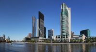 Crown Casino and the Eureka Tower on the Yarra River in Melbourne