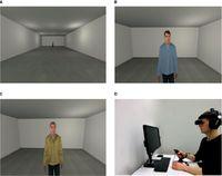 Bildunterschrift: Virtuelle Agenten in dem Regensburger Untersuchungsparadigma