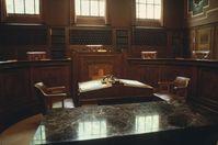 Roter Saal des schweizerischen Bundesgerichts in Lausanne, Archivbild