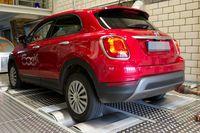 DUH Abgastest Fiat500x. Bild: Goecke - DUH