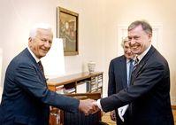 Bundespräsident Köhler und Richard von Weizsäcker 2007 Bild: Bundespräsidialamt