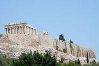 Akropolis: Urlauber skeptisch. Bild: pixelio.de, Leben und Kunst