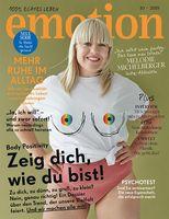 """EMOTION Verlag GmbH, Titelbild zu Ausgabe 10/2018, EVT: 05.09.2018, Titelthema: """"Zeig dich, wie du bist!"""". Bild: """"obs/EMOTION Verlag GmbH/Cathleen Wolf"""""""