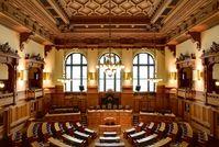 Hamburg Rathaus: Plenarsaal der Bürgerschaft