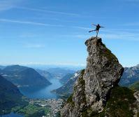 Balance, Gleichgewicht, Training, Gipfel, Ziel (Symbolbild)