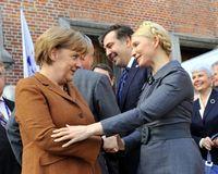 Julia Timoschenko und Angela Merkel (2011)