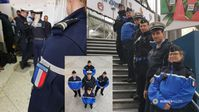 """Deutsche Beamte aus Bad Bergzabern und Beamte der französischen Géndarmerie gehören zur """"DFEE"""". Bild: Polizei"""