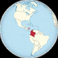 Kolumbien auf der Welt