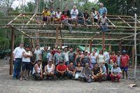 Das Grabungsteam, das sich aus Mitarbeitern aus Mexiko, Deutschland, der Schweiz und Polen zusammensetzt. Foto: Uni Bonn
