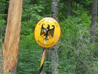 Grenze des Verwaltungsgebietes Bundesrepublik Deutschland (Symbolbild)