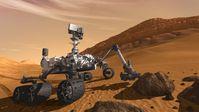 """Computergrafik von """"Curiosity"""" auf dem Mars"""