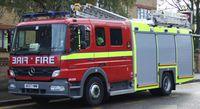 Eine Dual-purpose ladder (DPL) der London Fire Brigade.