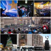Szenen von den Proteste in der Ukraine seit dem 21. November 2013.