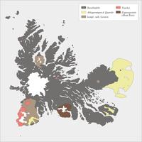 Geologische Übersichtskarte von Kerguelen
