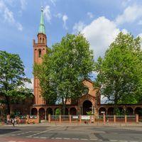 Die Ibn-Rushd-Goethe-Moschee befindet sich in einem Nebengebäude der Johanniskirche in Berlin-Moabit