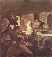 Theaterszene, Gemälde von Honoré Daumier (Symbolbild)