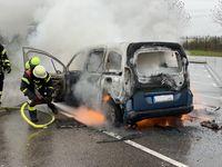 Brandbekämpfung unter Atemschutz Bild: Feuerwehr
