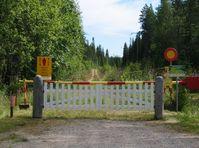 Grenze zwischen Finland and Russland