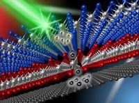 Computeranimation der neuen dreischichtigen Hightech-Solarzelle.