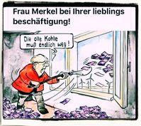 Angela Merkel ist dafür berühmt viel Geld der Deutschen an Dritte zu verschenken (Symbolbild)