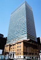 The headquarters building of Mitsubishi UFJ Trust and Banking Corporation.