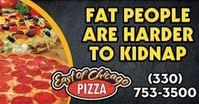 Pizzeria-Werbung: Witz über Entführung polarisiert.