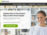 ZipRecruiter: Unternehmen leistet sich Ausrutscher. Bild: ziprecruiter.com