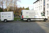 Um das Rückwärtsfahren mit Anhänger effektiv zu erleichtern, wird an der Universität in Koblenz an geeigneten Rückfahrassistenzsystemen (RAS) geforscht. Quelle: Foto: Universität Koblenz-Landau (idw)