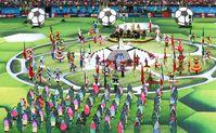 Foto von der Eröffnungsfeier im Olympiastadion Luschniki