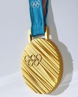 Gold medal of the 2018 Olympics