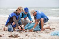 Freiwillige Helfer säubern am 19. September Küsten und Flussufer Bild: NABU/ Felix Paulin