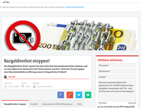 "Bild: Screenshot der Webseite ""https://www.volkspetition.org/petitionen/bargeldverbot-stoppen/"""