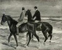 Max Liebermann: Zwei Reiter am Strand, aus dem Schwabinger Kunstfund