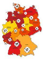 """Millionengewinne 2020 nach Bundesländern Bild: """"obs/Deutscher Lott- und Totoblock (DLTB)"""""""